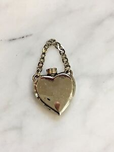 Vintage Silver Plated Heart Perfume Bottle 552