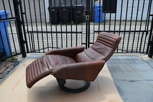 Mid Century Modern Bramin Action Recliner By Steen Ostergaard Leather Chair