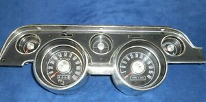 67 68 Ford Mustang Instrument Cluster With Tachometer C7zf 10843