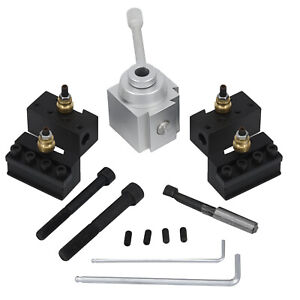 Change Tool Post Holder Lathes For 7 X10 12 14 Toolholder Parts Set Suitable