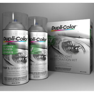 Dupli color Hlr100 Headlight Restore Restoration And Uv Coating Spray Kit 3 pack