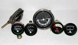 John Deere Tachometer Temperature Oil Pressure Ampere Fuel Gauge Set