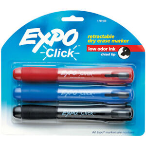Bderetmark Assorted Color Expo Retractable Dry Erase Markers Usa Case Of 3