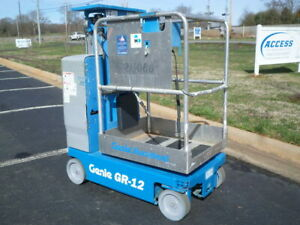 2011 Genie Gr 12 Personal Runabout Aerial Work Platform Gr12 Single Man Lift