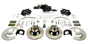 Disc Brakes Front 11 25 Slotted Rotors Clear 4 Piston Calipers Ford Mustang V8