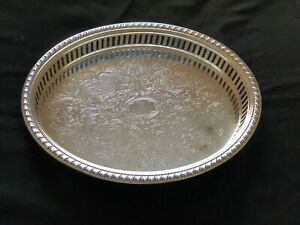 Vintage Lancaster Silverplate Reticulated Oval Serving Tray
