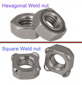 M4 M5 M6 M8 M10 304 Stainless Hex square Weld Nut Spot Welding Nut