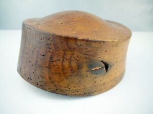 Antique Wooden Hat Form 3740 22 Ff Block Vintage Millinery Mold Form Nr