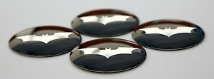 4x Batman Batwing Wheel Center Hub Cap Sticker Decal 2 20 Dome Shape
