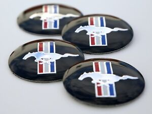 4x Ford Mustang Wheel Center Hub Cap Sticker Decal 2 20 Dome Shape
