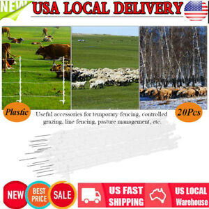 20x Strip Graze Poly Tread In Posts Multi Wire Tape Electric Fence Post Fencing