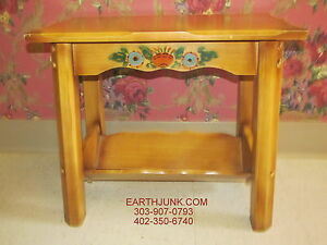 End Table Vintage Monterey Spanish Ranch Early Calif Furniture With Floral Motif