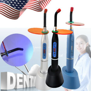 Dental 3 color 5w Wireless Cordless Led Curing Light Lamp 1500mw cm Oral Tool
