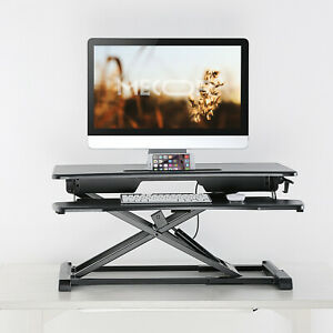 Electric manual Height Adjustable Standing Desk Frame Computer Table Top
