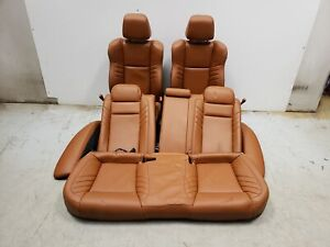 2018 Dodge Charger Srt Hellcat Seats Front Rear Left Right Brown Leather Oem
