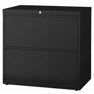 Hirsh Hl8000 Series 36 2 Drawer Lateral File Cabinet In Black