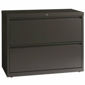 Hirsh Hl8000 Series 36 2 Drawer Lateral File Cabinet In Charcoal