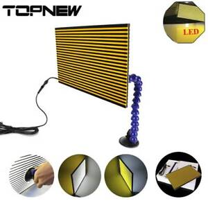 Paintless Tools Dent Removal Led Usb Line Board Scratch Reflector Repair Kit New