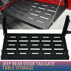 Rear Door Tailgate Table Support Up To 75lb For 2018 Jeep Wrangler Jl 2 4 Door