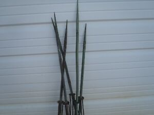 Vintage Copper Lightning Rods Metal Base Lot 4 Pieces 50 Tall Small Base