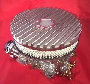 Aussiespeed Mopar 9 Polished Finned Cast Aluminum Air Cleaner Assy Slant Six 6