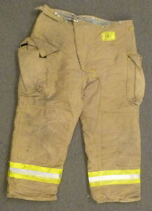 42x29 Firefighter Pants Bunker Fire Turn Out Gear Tan Brown Morning Pride P984