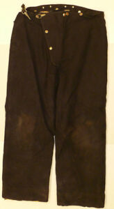 38x28 Pants Firefighter Turnout Bunker Black Fire Gear Globe P870