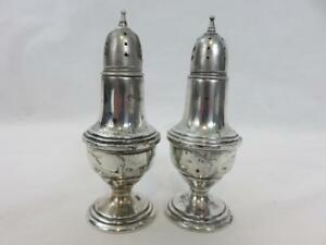 Mueck Carey Co Sterling Silver Salt Pepper Shakers 93 Grams Not Weighted