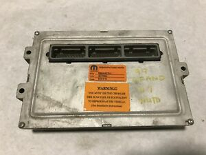 1999 Jeep Grand Cherokee Engine Computer Module 4 7l V8 Ecm Pcm R6044427aj Wj