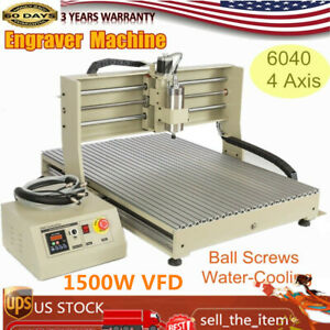 4 Axis 6090t Cnc Router Engraver Engraving 3d Drilling milling Machine 1 5kw Vfd