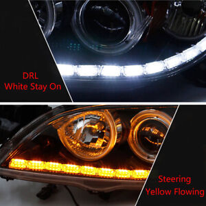 16led Switchback Car Flexible Led Strip Light Drl Sequential Turn Signal Lamp