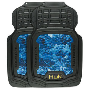 Huk Fishing Floor Mats Off Shore Blue Camouflage Auto Truck Car Pair 2 Pack