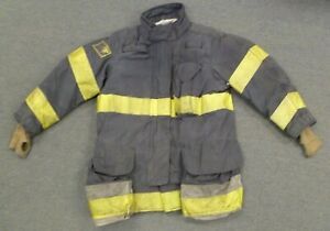 44x35 Janesville Black Firefighter Jacket Coat Bunker Turn Out Gear J748
