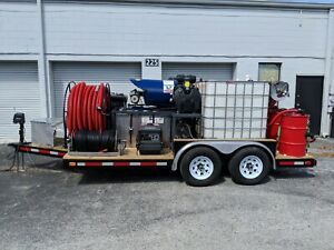 Pressure Washer Trailer W Full Recovery And Recycling Hot Water Power Wash