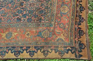 Huge Antique Halvai Bijar Bidjar Northwest Persian Palace Carpet 11 X 18ft