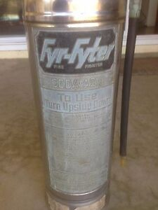 Vintage Fyr fyter Fire Extinguisher Stainless Steel 2 5 Gallon And 24 Inches