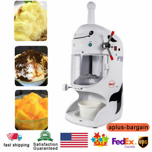 350w Electric Snow Ice Shaver Ice Cream Shaving Maker Machine Crusher Commercial