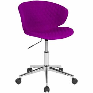 Flash Furniture Cambridge Mid Back Swivel Office Chair In Purple