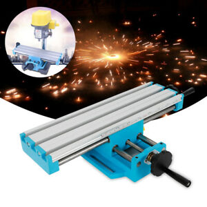 X Y Axis Milling Machine Working Table Cross Sliding Bench Drill Vise Fixture Us