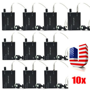 10 Black Led Head Light Lamp For Dental Surgical Medical Binocular Loupes Glass