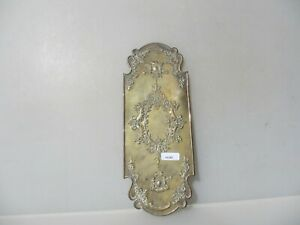 Victorian Brass Finger Plate Push Door Handle Cherubs Rococo Old Antique Vintage
