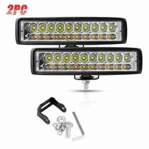 2pcs 6inch Led Work Light Bar Flood Spot Driving Fog Lamps Car Suv Offroad Truck