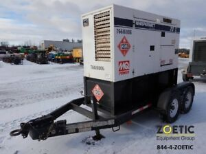 Multiquip Dca70us12 56kw 70kva Portable Diesel Generator On A Trailer