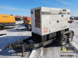 2010 Multiquip Dca70us12 56kw 70kva Portable Diesel Generator On A Trailer