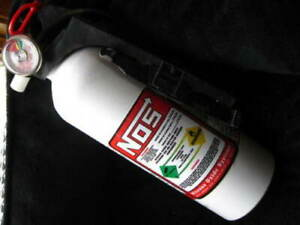 New White Nos Fire Extinguisher Nitrous Bottle Rat Hot Rod Red Decal 2lb Charge