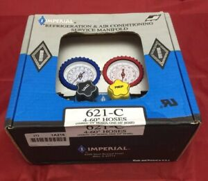 Imperial Mechanical Manifold Gauge Set 4 valve 621 c With 60 Hoses