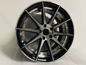 18 Vtx Style Black Machined Face Staggered Fits 5x114 3 Jdm Aggressive