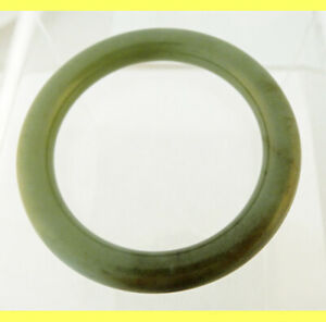 Vintage Chinese Jade Bangle Bracelet Carved From One Piece Of Jade 5675