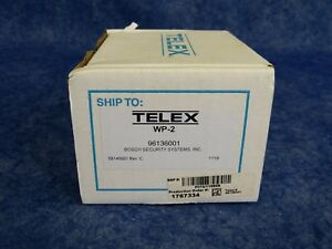 New Telex Wp 2 Wall Plate Channel Selector Switch 3 pin Xlr