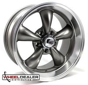 17x7 17x9 Gray Rev Classic 100 Wheels Rims Chevy Camaro 5x4 75 1967 1968 1969